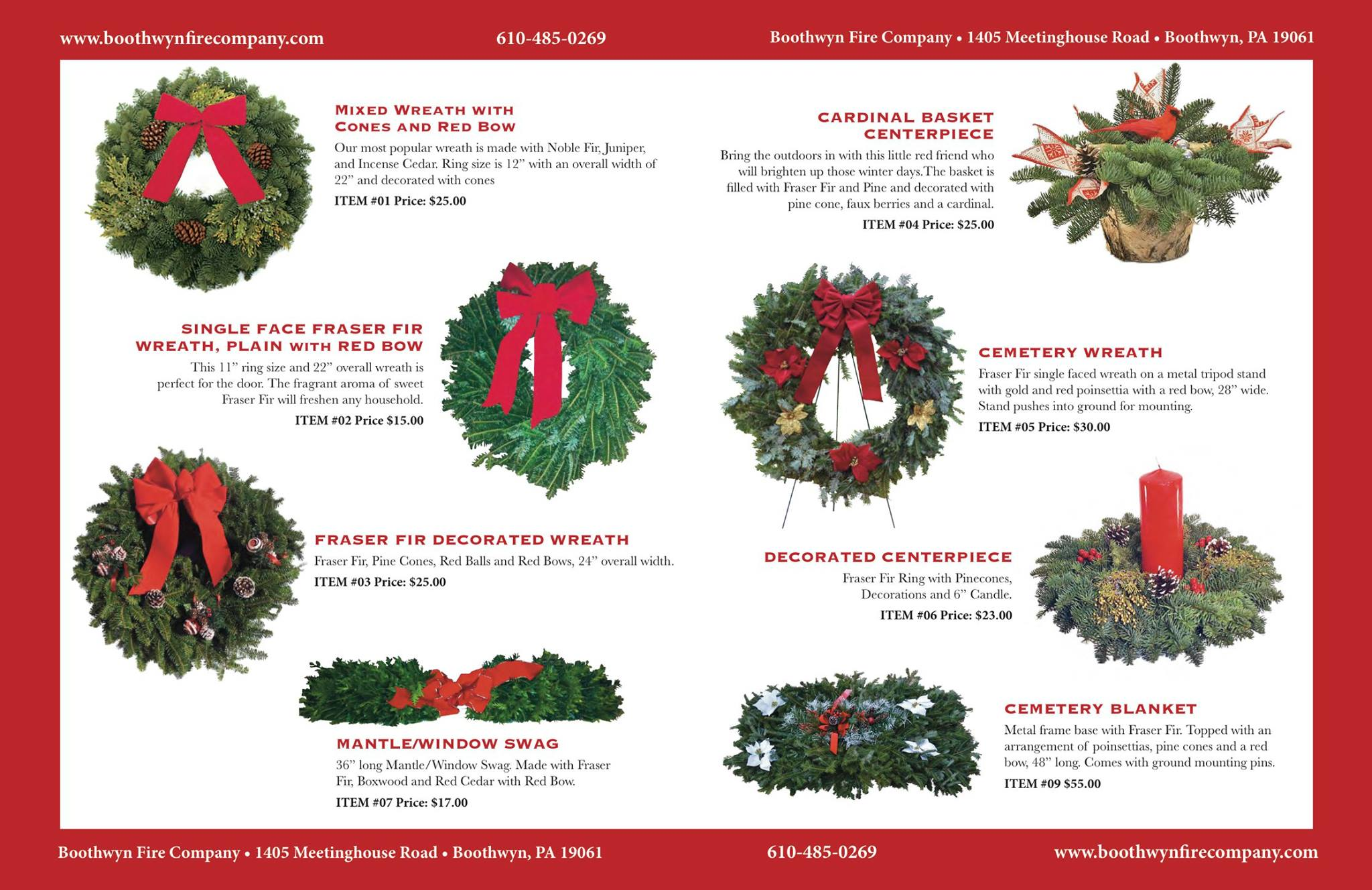 its that time of year again our holiday wreath fundraiser was just mailed out to all of our residents if youve ordered in the past we appreciate your